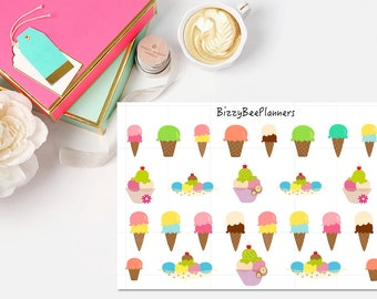Ice Cream Time Planner Stickers