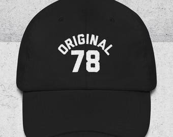 40th Birthday Gifts for Men & Women - Dad Hats - ORIGINAL 78 Baseball Hat - 40th Birthday Gift Ideas - Black Dad Cap -1978 Hats -Embroidered