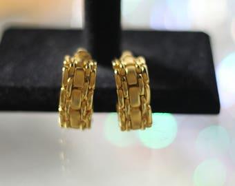 90's Gold Clip On Earrings