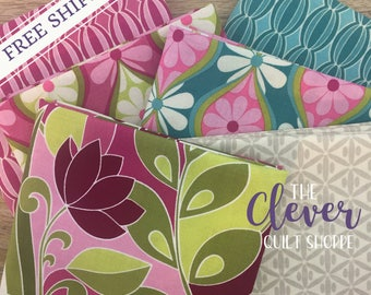 Botanique 6 Piece Custom Bundle by Lila Tueller Designs for Riley Blake - Various Cuts (100% Cotton, Quilting Fabric Yardage)