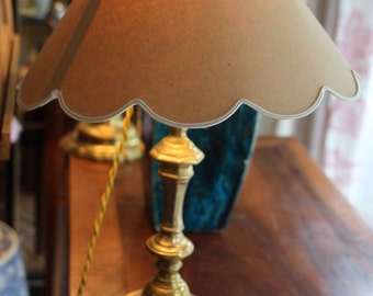 Table lamps French antique lamp Pair of lamps  Desk lamp Lamp shade Vintage Lamp Candlesticks Shabby chic Home decor Lamp light