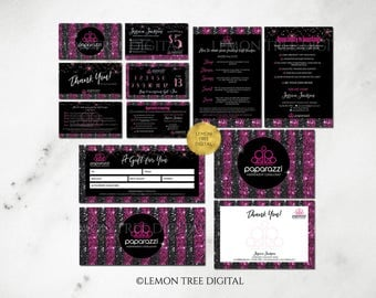 Paparazzi Marketing Kit - Paparazzi Branding - Paparazzi Business Cards - Paparazzi Jewelry Consultant - Sequins - Glitter - PP06