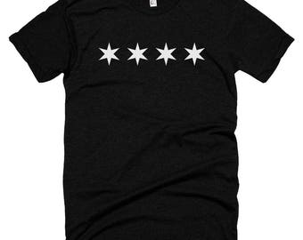 Minimal Chicago Flag T-shirt