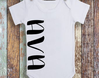 Name Bodysuit, Boy or Girl Bodysuit,Baby Name Bodysuit,Baby Shower Name Gift,Boy Bodysuit,