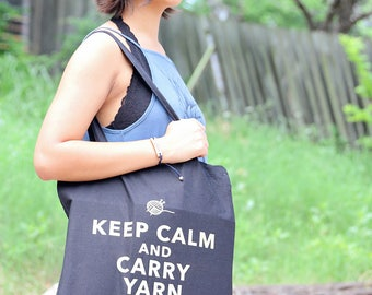 Keep Calm and Carry Yarn Bags