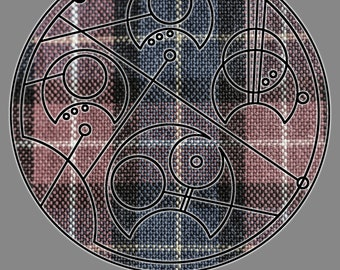 "Circular Gallifreyan Print - 8x10 - Second Doctor - ""When I say run, run"""