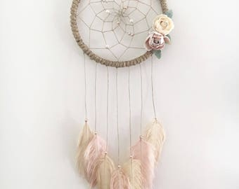 "7"" Boho Floral Dream Catcher"