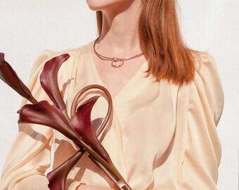 Vintage inspired silk blouse, silk top,