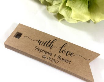 Wedding Favors, Thank You Tags, Gift Tags, With Love Tags, Favor Tags, Wedding Favor Tags, Wedding Tags, Love Tags, Made With Love Tags, 18