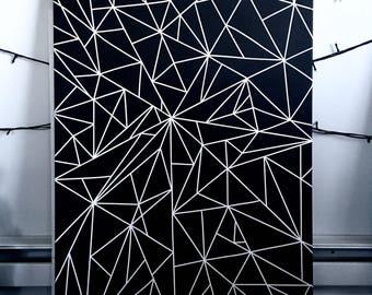 Geometric painting | Etsy