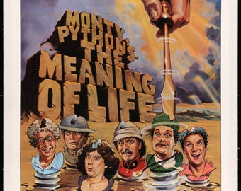 """Monty Python's Meaning of Life (1983) Original Movie Poster -27"""" x 41"""""""