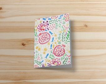Printable holiday card, printable jewish card, rosh hashanna, shana tova, jewish new year, print at home card, pomegranate digital download
