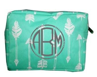 Mint Arrow Cosmetic/Travel Bag