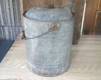 Antique Gas Can - 2 Gallon Metal Gas Can with Wood Handle