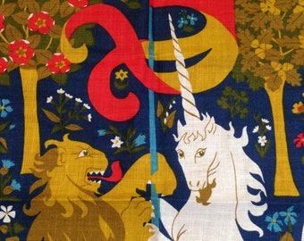 Vintage Tea towel Lion and Unicorn by Ulster Irish Linen