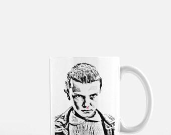 Stranger Things // Stranger Things Coffee Mug // Eleven Stranger Things // Stranger Things Art // Stranger Things Coffee Cup // Eleven