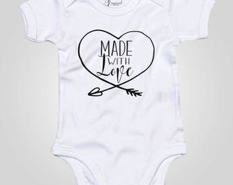 Made with love onesie - baby bodysuit - newborn baby shower gift