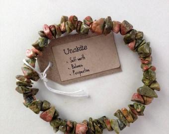UNAKITE Gemstone Bracelet