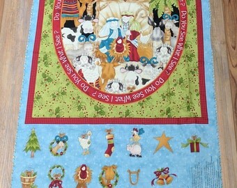 Do You See What I See? Advent Calendar-Panel Cotton Fabric from Henry Glass
