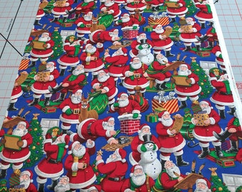 Santa Clause All Over Cotton Fabric