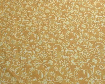 Yellow Flowered Cotton Fabric