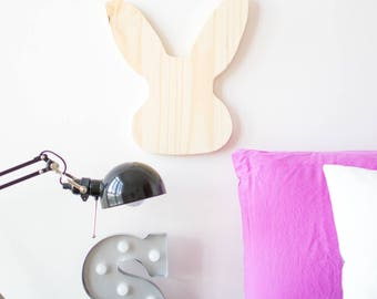 Wooden Bunny Silhouette