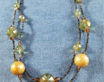 Vintage Finds: Green Forrestal Bead Necklace