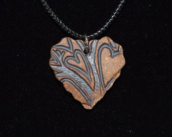 Heart Shaped Necklace, Heart Texture