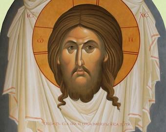 Mandylion Jesus Christ Savior on Ubrus The Savior of Edessa