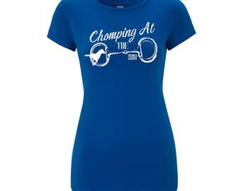 Ladies 'Chomping at the Bit' Equine Riding T-shirt