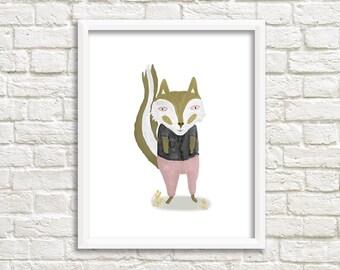 Fox Illustration, Art print
