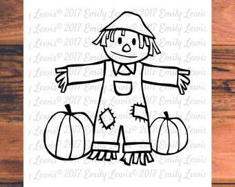 scarecrow svg - scarecrow clipart - halloween svg - halloween clipart - scarecrow cut file - halloween files - cricut - cameo - silhouette