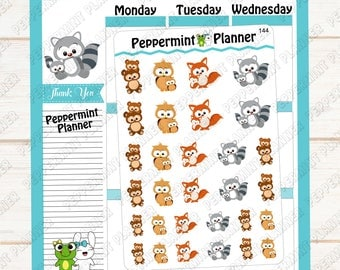 Mommy and Me sweet animal stickers --- Planner Stickers --- 144