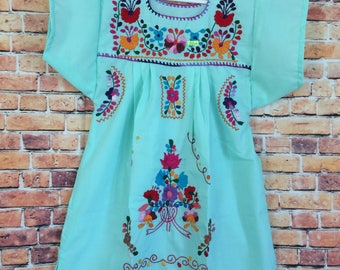 Hand Embroidered Mexican Dress (Puebla Style) - Size 4T