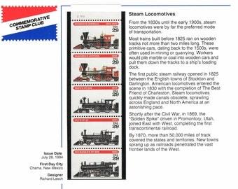 Steam Locomotives Postage Stamps 1994 UNUSED