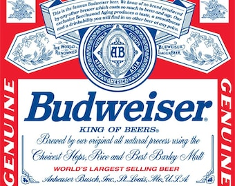 SUMMER SALE: Budweiser King of Beer Flag and Banner 3' x 5'