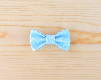 Baby Bows, Blue Baby Bow, Blue Floral Baby Bow, Spring Bow, Hair Clip, Baby Hair Clip