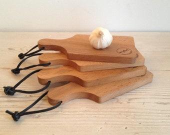 Small cutting board, serving board, wooden chopping board, cheese board, Scottish, garlic board, chilli, lemon, beech, handmade, camping