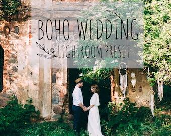 Boho wedding lightroom preset, outdoor film preset for lightroom 5 6 CC