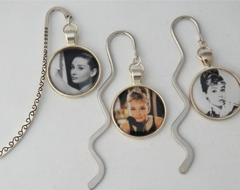 Audrey Hepburn bookmarks, Mother's day gift, Hollywood silver screen, Breakfast at Tiffany's book marker