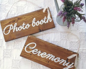Wooden signs Wedding Photo booth-Wedding wood signs