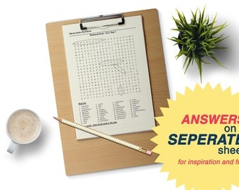 Word Search Puzzle using words from Alcoholics Anonymous, Step One, Recovery Gift