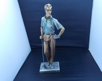 Vintage CollectIble Golf Player Figurine