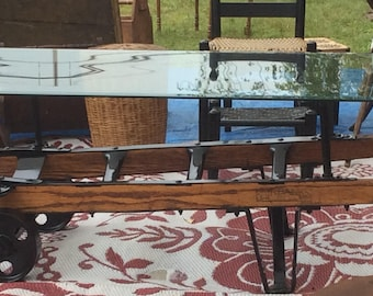 Antique beer dolly/hand truck cart coffee table