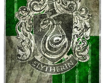 Hogwarts lifesize banner, Slytherin, décor