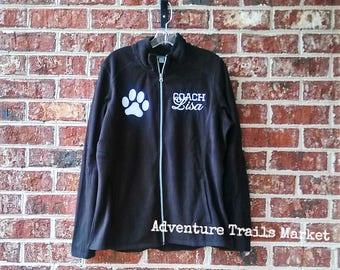 Microfleece Full Zip Jacket, Light Weight, Micro fleece, Ladies fitted, Sports Jacket, Stadium Jacket,