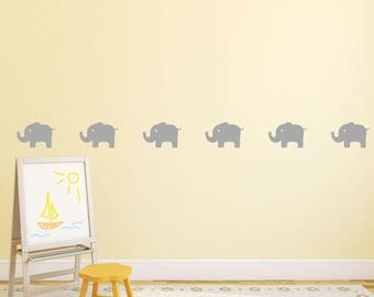 Elephant Wall Decal   Kids Wall Decal Sticker   Nursery Decoration Wall  Pattern | PP173 Part 61