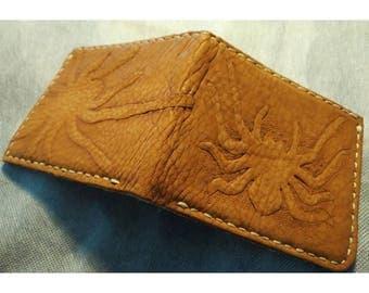 Soft suede Tarantula Leather wallet.