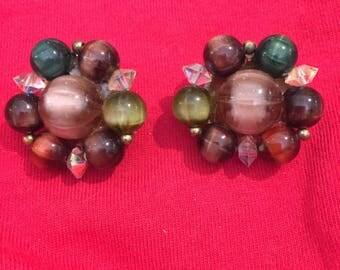 VINTAGE Lisner Beaded Earrings