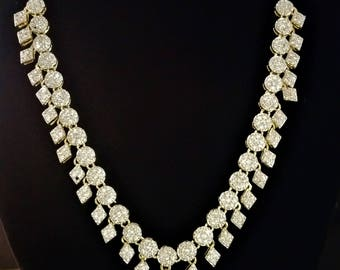 Simple and Elegant Bridal Necklace set- American diamond/Cubic Zirconia-Wedding Jewellery-RUBY Centered-with Gift Box-NS40